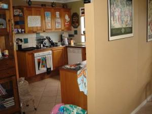 Before - dark and drab kitchen